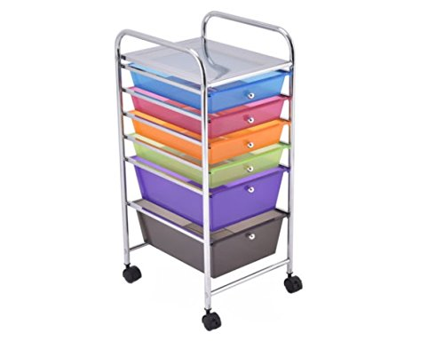 6 Drawer Rolling Storage Cart Tools Scrapbook Paper Office